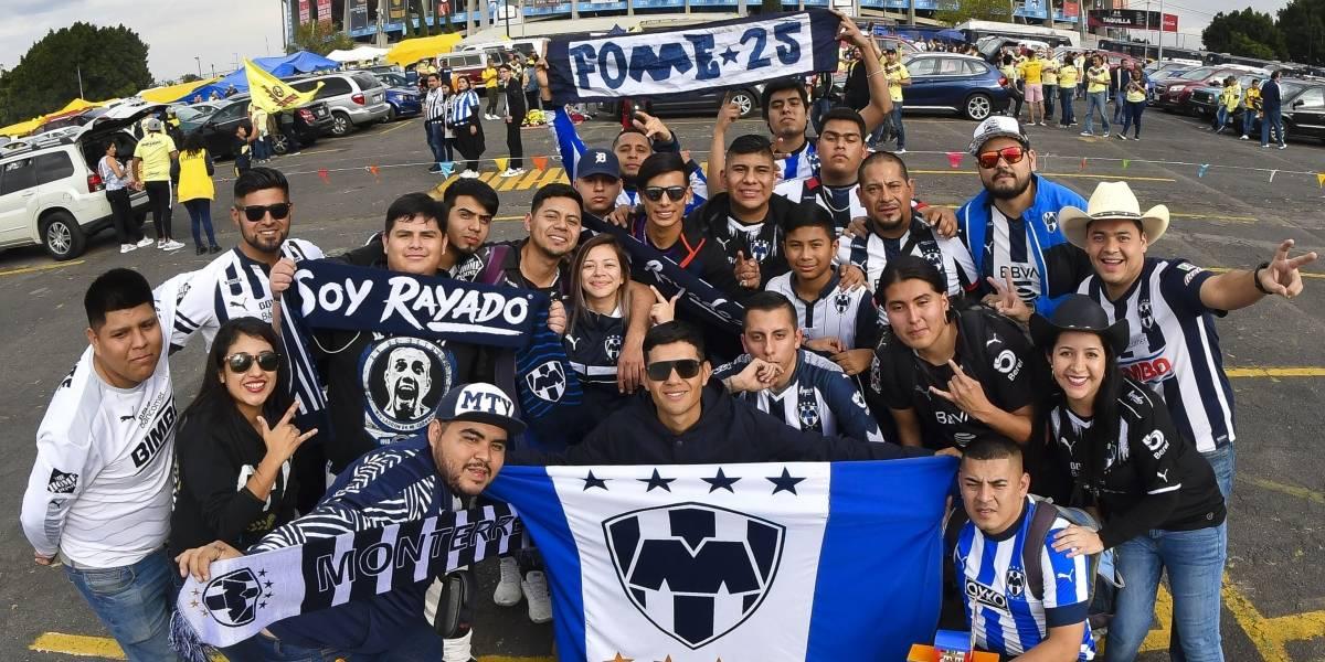 Afición de Rayados invade CDMX por final contra América