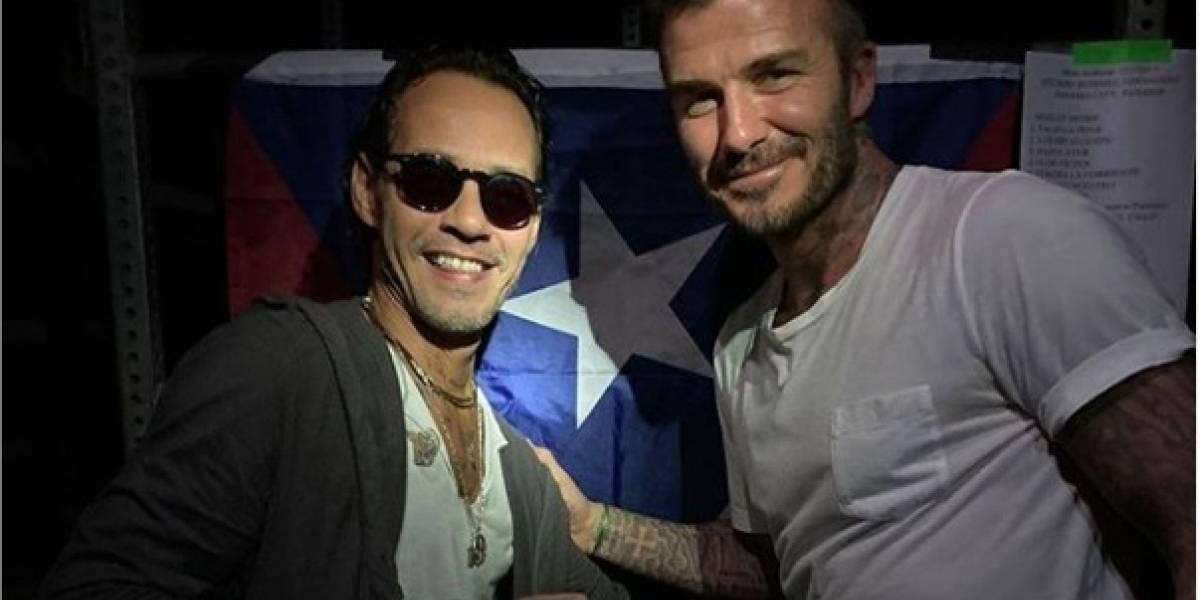 Captados Marc Anthony y David Beckham cantando juntos en una fiesta