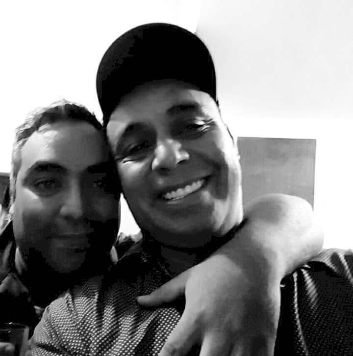 Los hermanos Luis y Byron Lima Oliva, durante una visita del primer al segundo, quien cumplía prisión por el caso Gerardi. Foto: Familia Lima Oliva