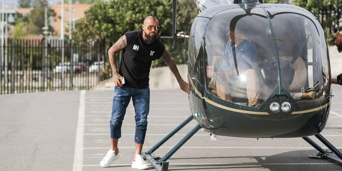 Los detalles del helicóptero que trasladó a Arturo Vidal hasta el estadio Monumental