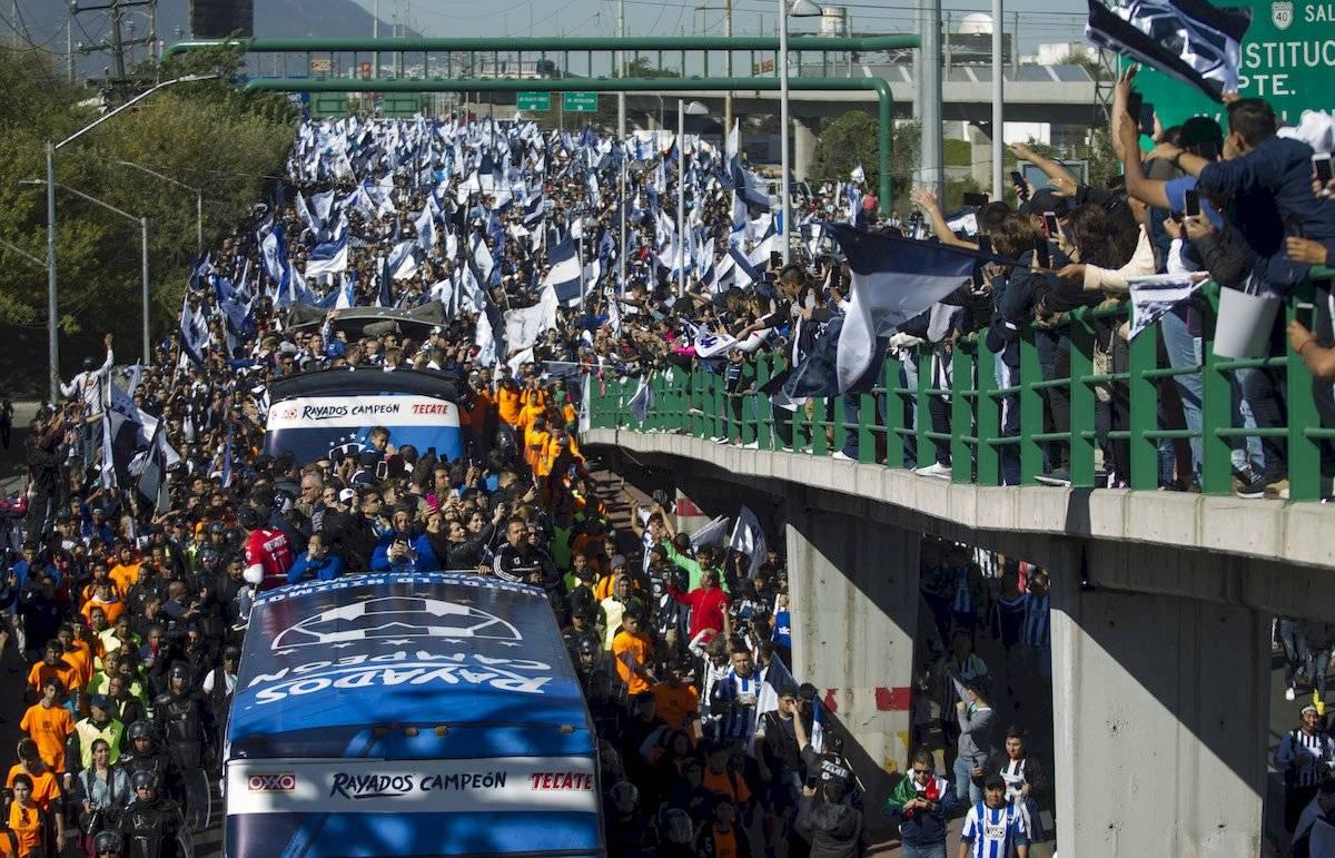 La plantilla regresó a Monterrey para celebrar con su afición Cuartoscuro