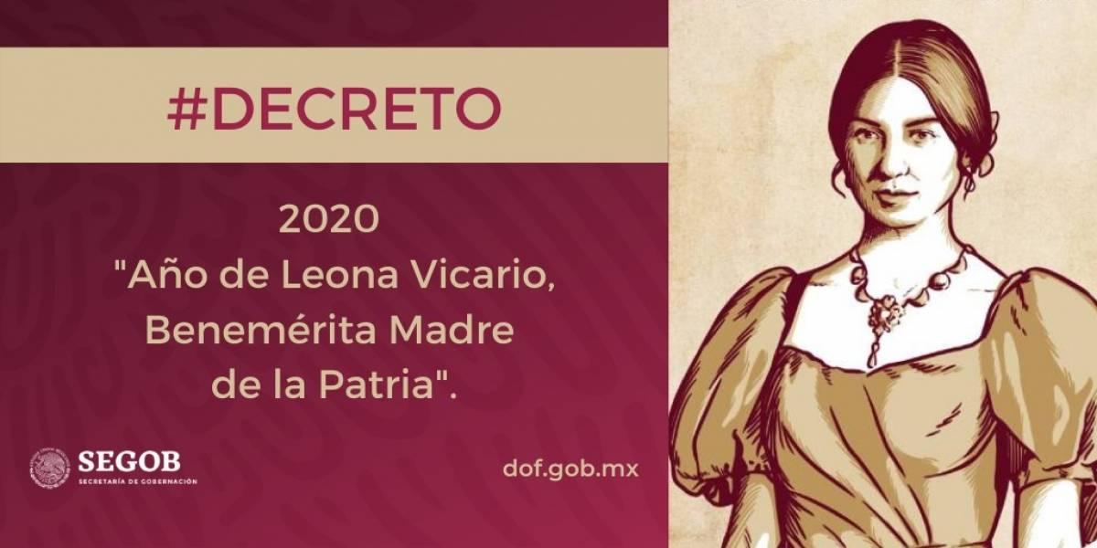 Se declara al 2020 como 'Año de Leona Vicario, Benemérita Madre de la Patria'