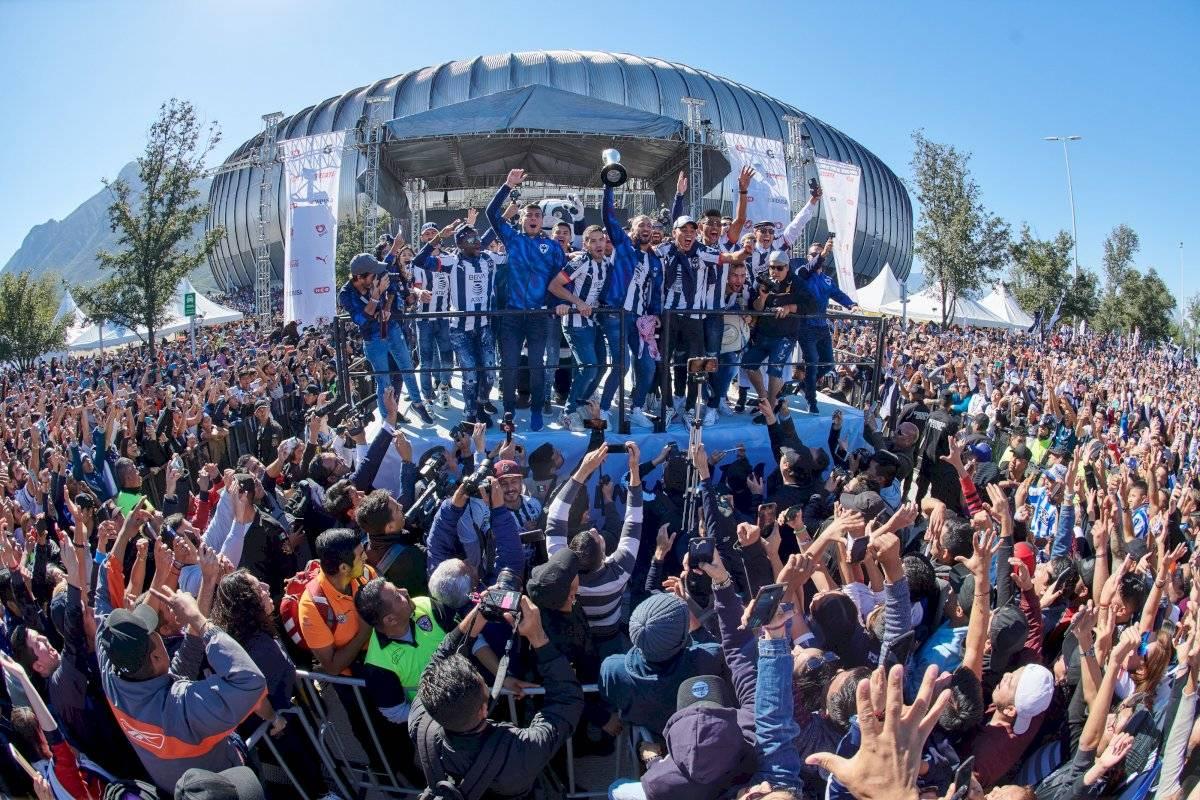 La plantilla regresó a Monterrey para celebrar con su afición Mexsport
