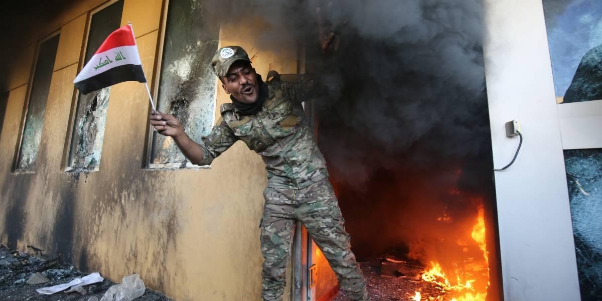 VIDEO. Multitud de manifestantes asalta la embajada de Estados Unidos en Bagdad