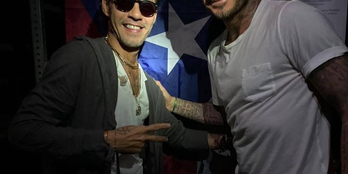 ¡El duo del año! Marc Anthony y David Beckham cantan juntos en una fiesta