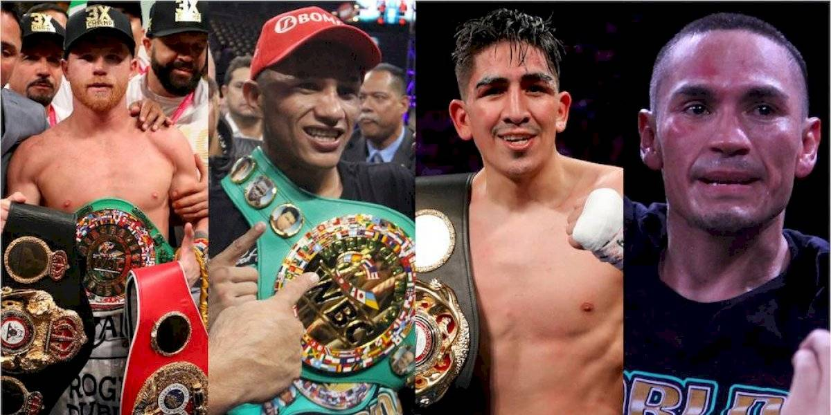 México cierra 2019 con ocho campeones mundiales de boxeo