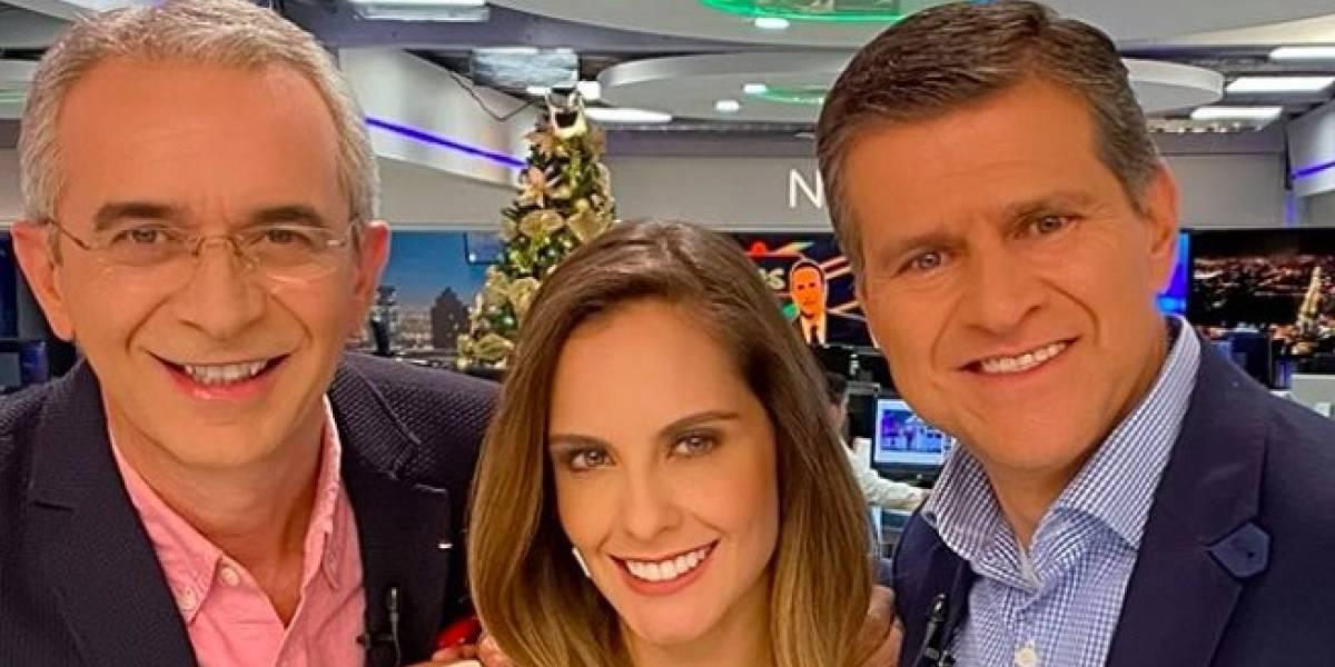 Profundo, muy profundo escote de Laura Acuña, dejó en shock hasta a sus compañeros de 'Noticias RCN'