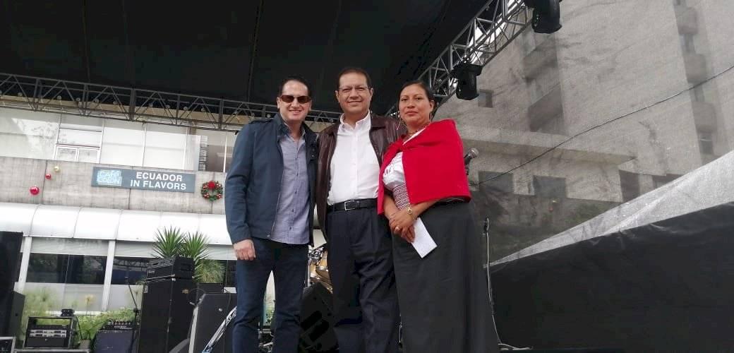 Hernán Cueva, Gerente de Metro. Santiago Guarderas, vicealcalde de Quito Ana Bastidas, coordinadora deAdministración Especial Turística la Mariscal