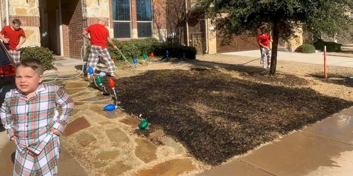 Niño incendia patio de su casa con lupa que recibió como regalo