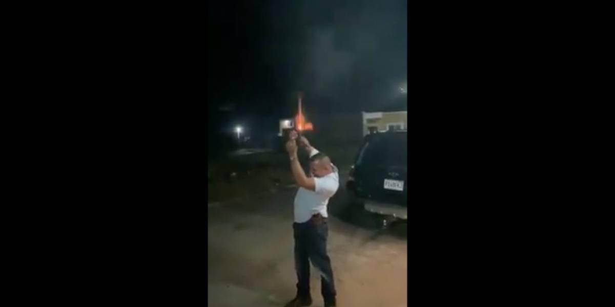 Hombre que disparó al aire  integra el Ejército y será llevado ante la justicia