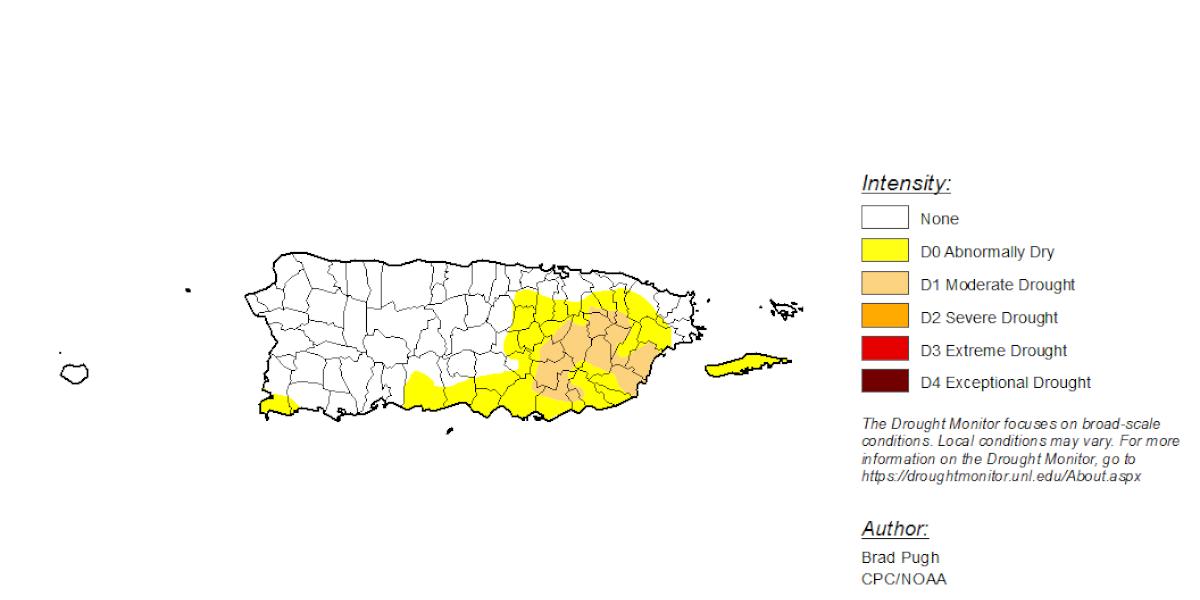 Persisten zonas en sequía moderada y anómala