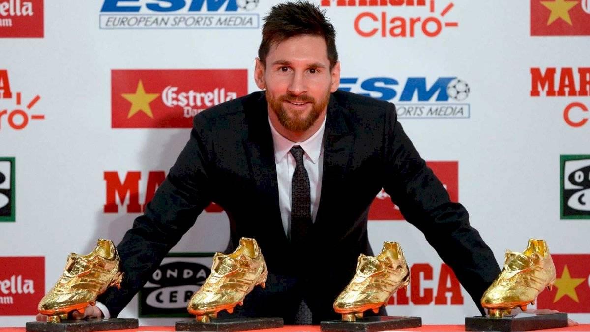 Messi con su bota de oro
