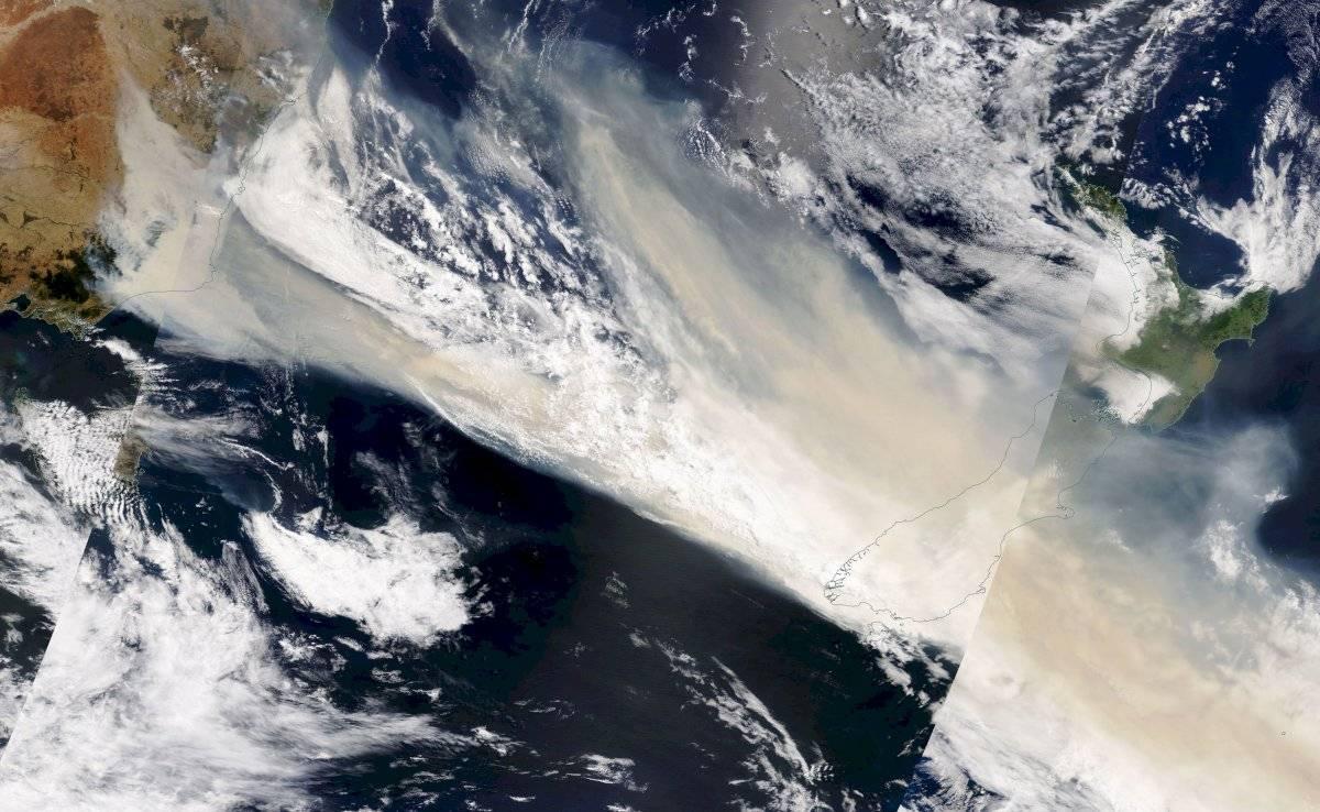 Incendio visto desde el espacio