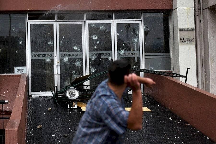 Intendencia Valparaíso ataque