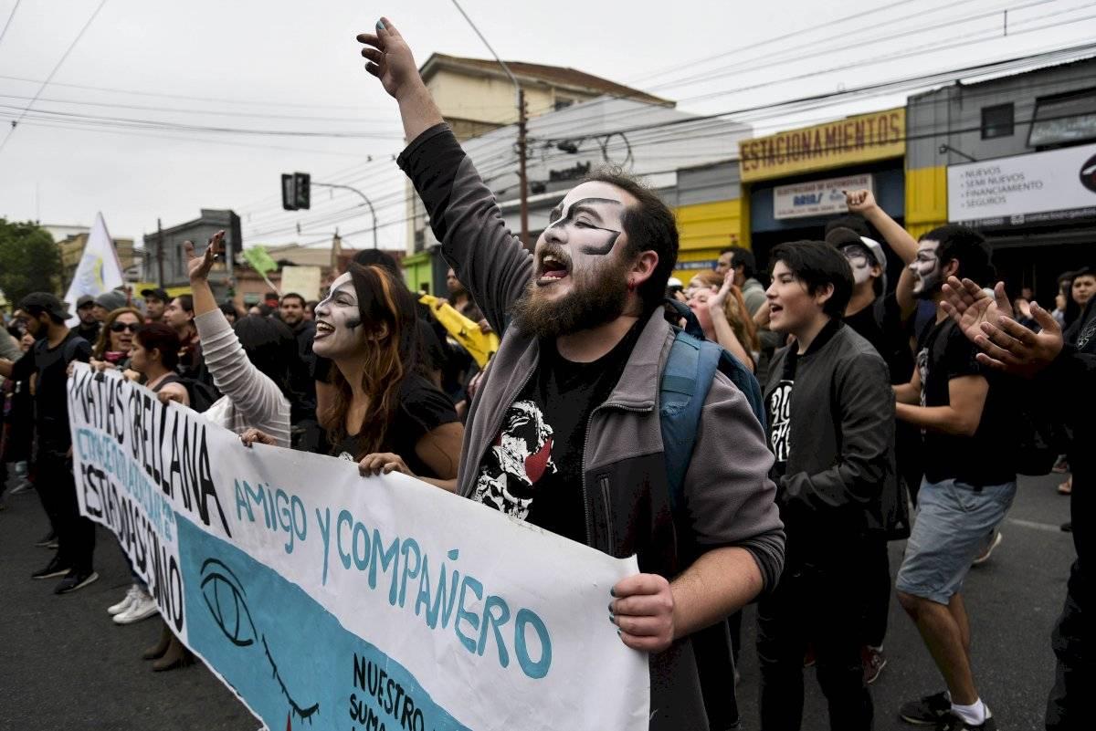 Manifestación joven perdió ojo