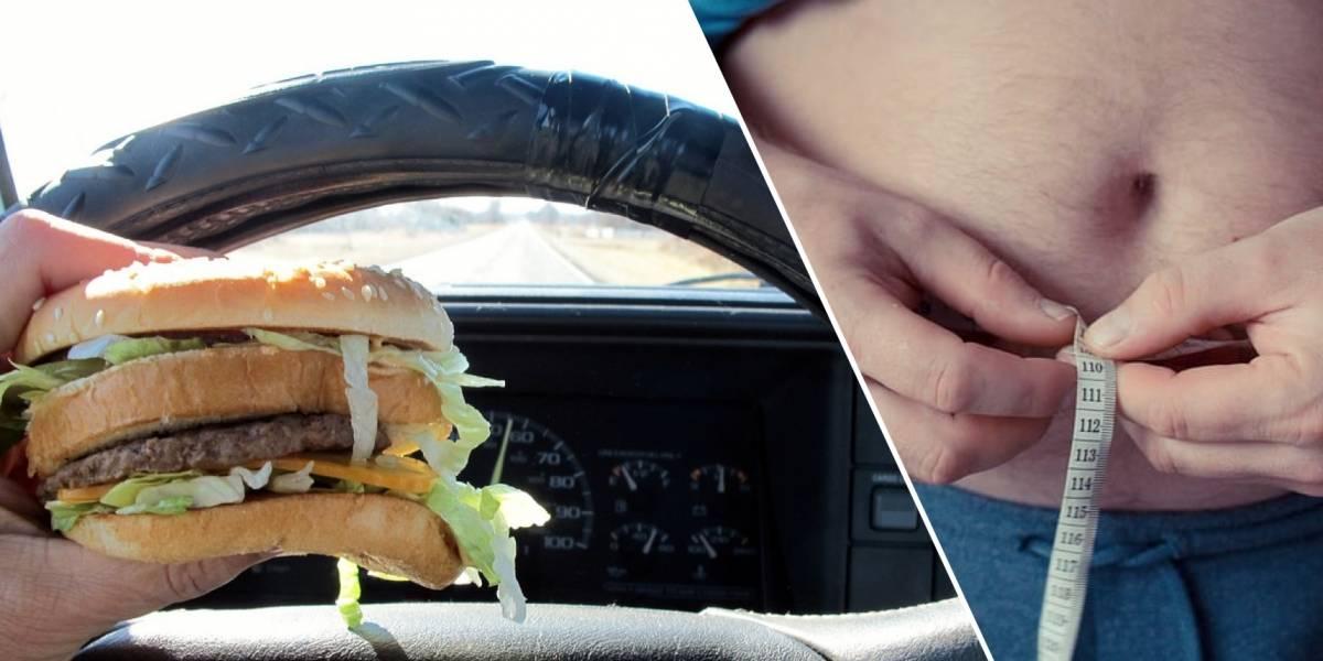 ¿Cómo bajar de peso si pasas mucho tiempo sentado en el auto y en la oficina?