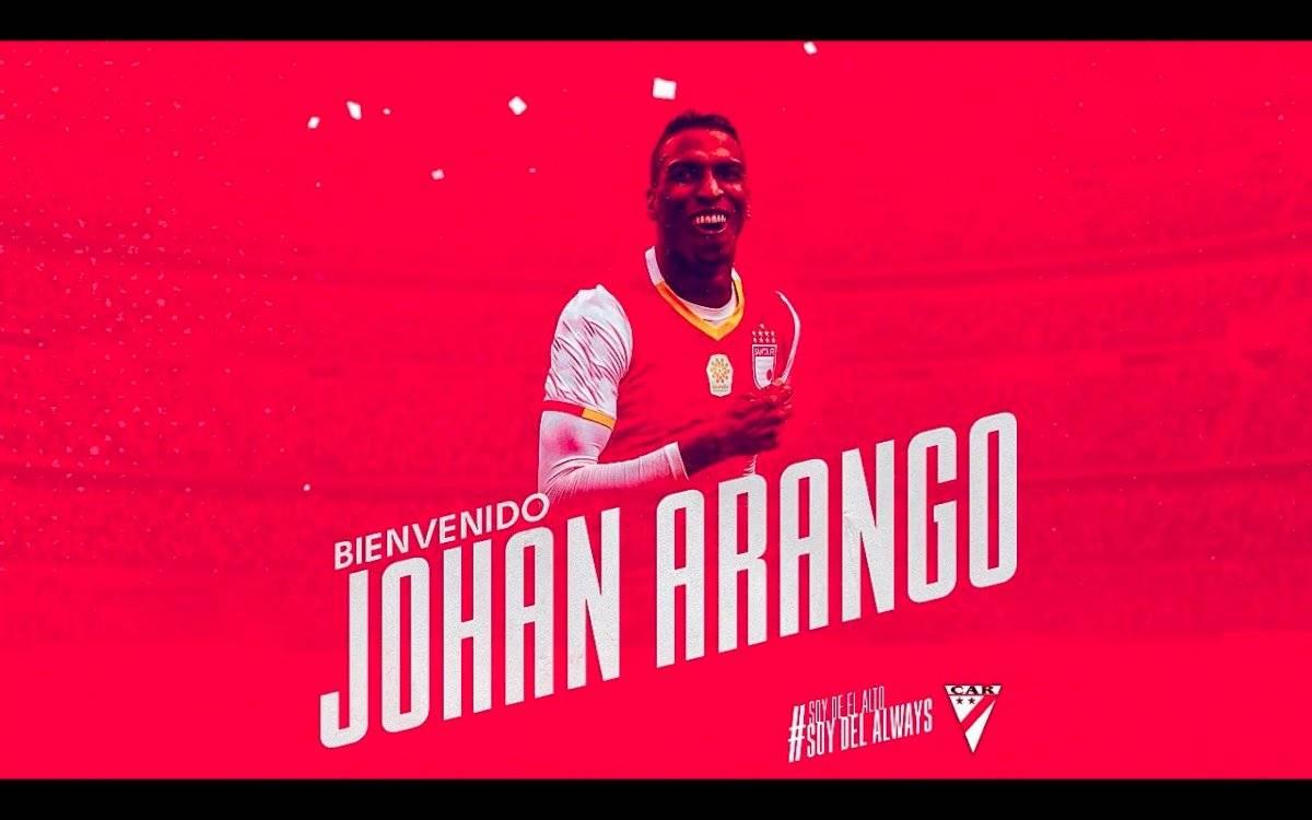 Johan Arango llega a Always Ready de Bolivia para 2020
