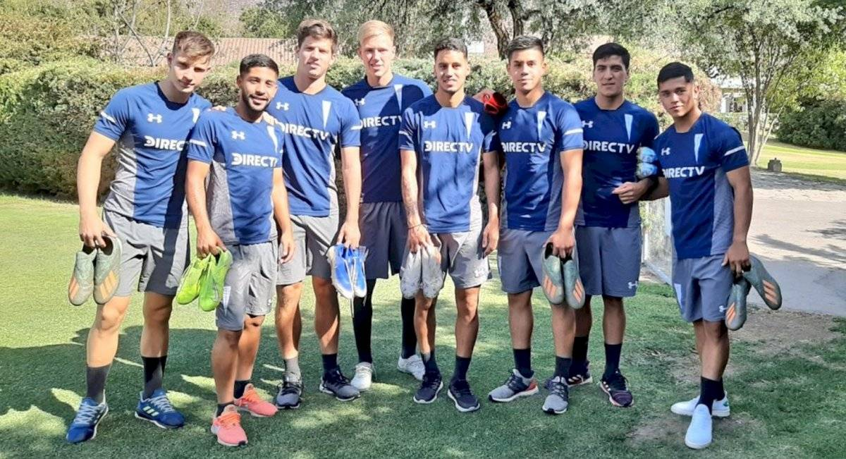 Barticciotto, Cristian Núñez, Ferrario, Bernedo, Astudillo, Aravena, Marcelino Núñez y Fernández / Foto: cruzados.cl