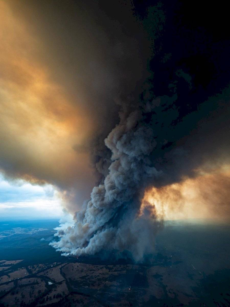 Impactantes imágenes del incendio de Australia