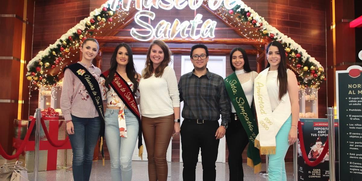 El 'Museo de Santa' de Quicentro se abrió exclusivamente para los niños de Fundación Reina de Quito