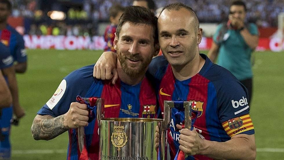 Messi y Andrés Iniesta