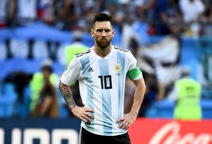 Messi con la indumentaria de la Selección de Argentina