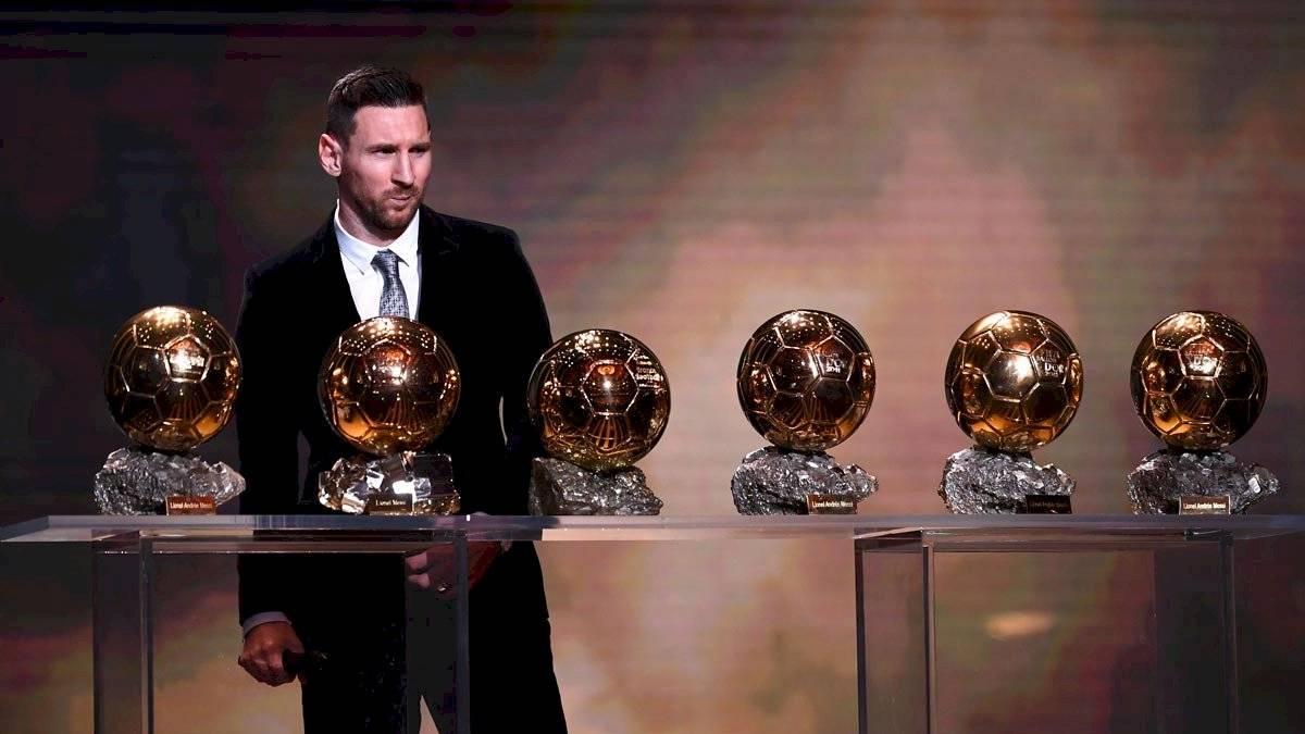Messi con sus sexto balón de oro