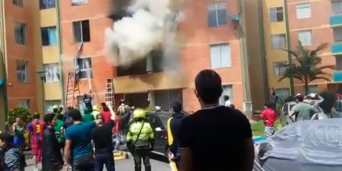 Incendio en apartamento bogotano deja un muerto y cinco heridos