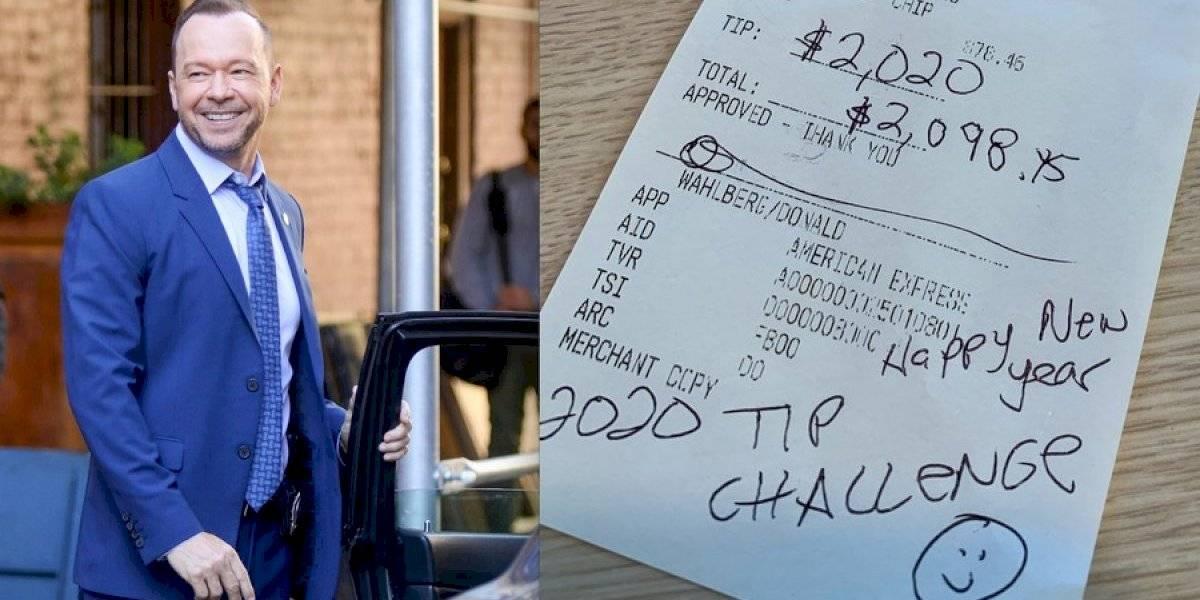 Mesera de IHOP recibió una propina de $ 2,020 por Donnie Wahlberg