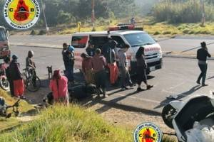 accidente camión motocicletas ruta Interamericana