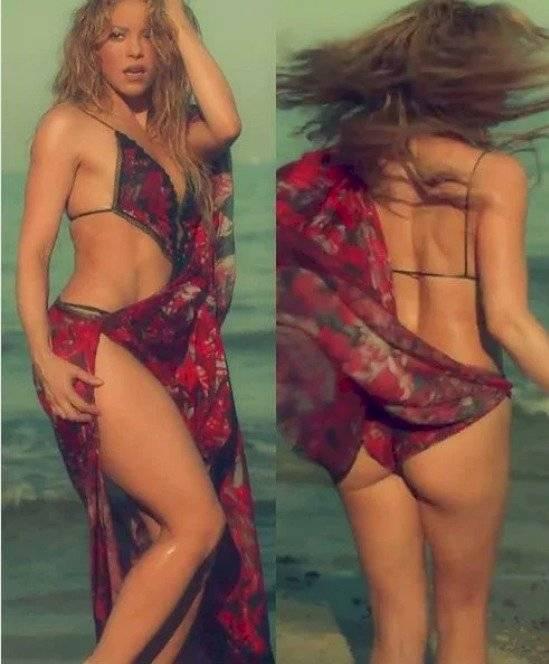 ¡Cuidado, Shakira! Foto en bikini sin photoshop sale a la luz y rompe redes