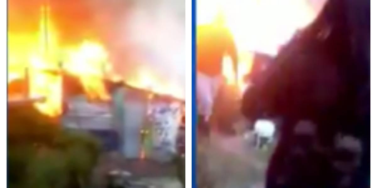 (VIDEO) Voraz incendio consumió al menos 11 viviendas en Bogotá