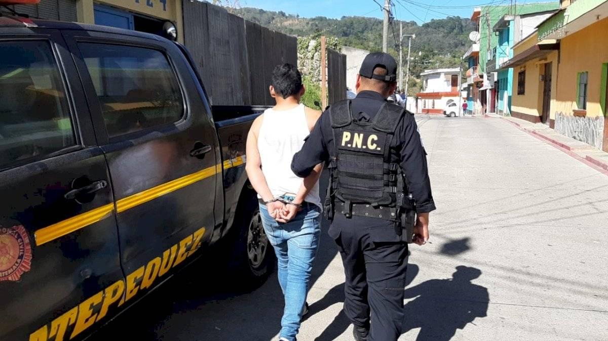 Gerson Rodríguez fue capturado por la PNC en Sacatepéquez. Foto: PNC