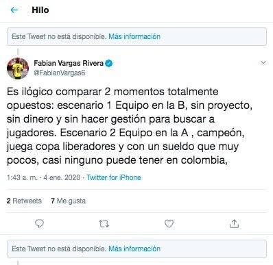 Fabián Vargas contra Jorge Bermúdez