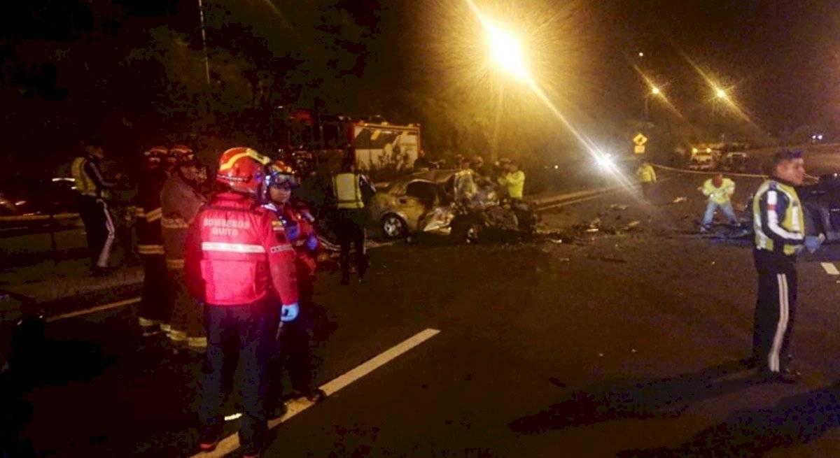 Accidente de tránsito deja cuatro fallecidos en la avenida Simón Bolívar
