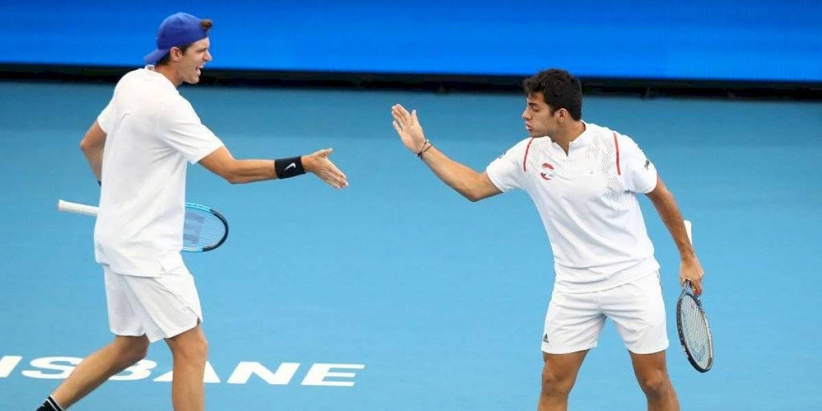 Chile cayó ante Francia en su estreno en la ATP Cup