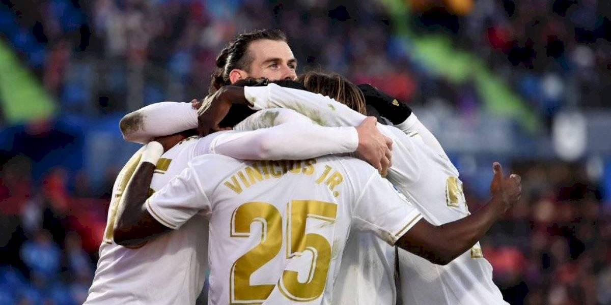 Real Madrid goleó al Getafe y escaló a la cima de la Liga, a la espera de lo que haga Barcelona