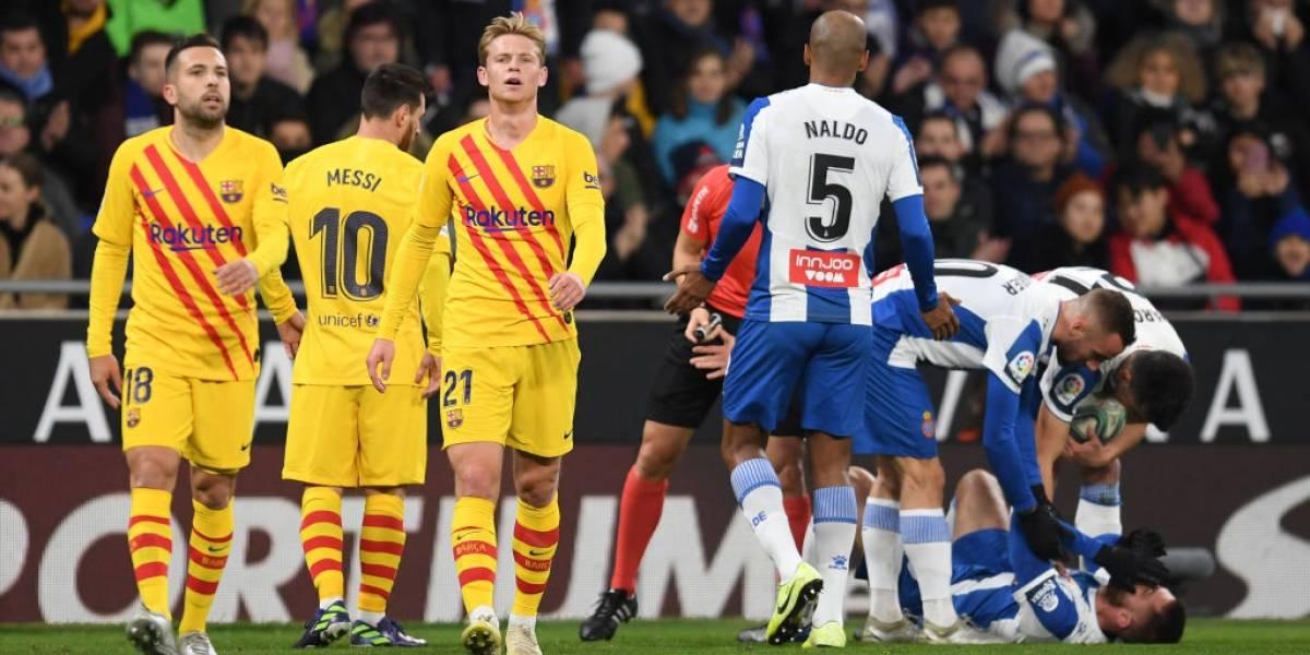 Barcelona deja escapar el triunfo en el clásico catalán pese a una gran actuación de Arturo Vidal