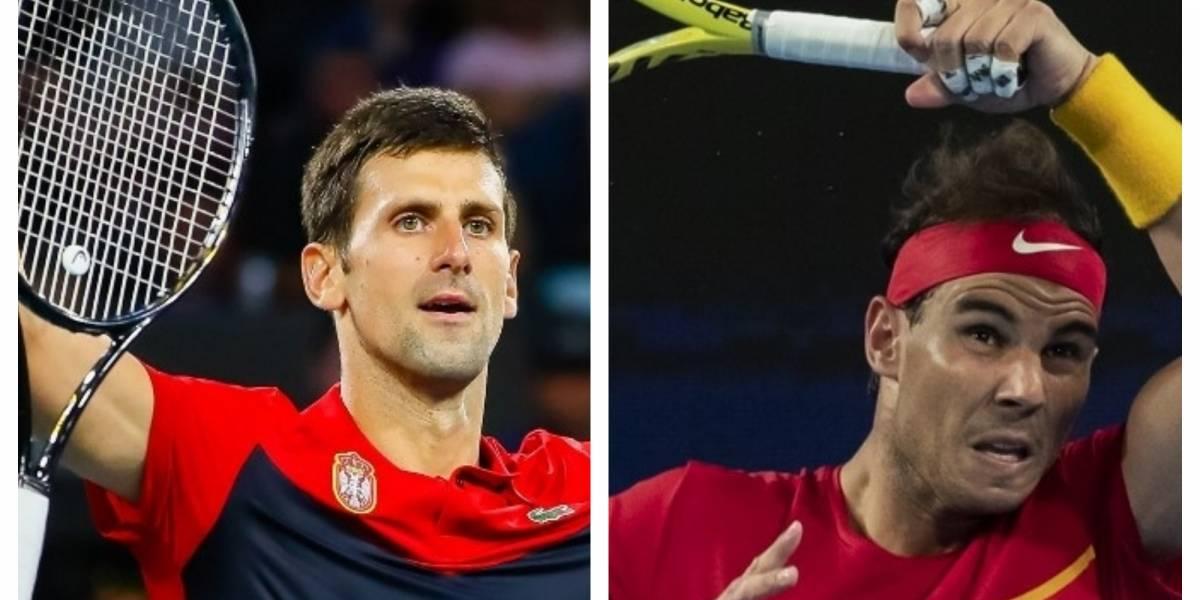 Novak Djokovic y Rafael Nadal debutan con triunfo en la ATP Cup