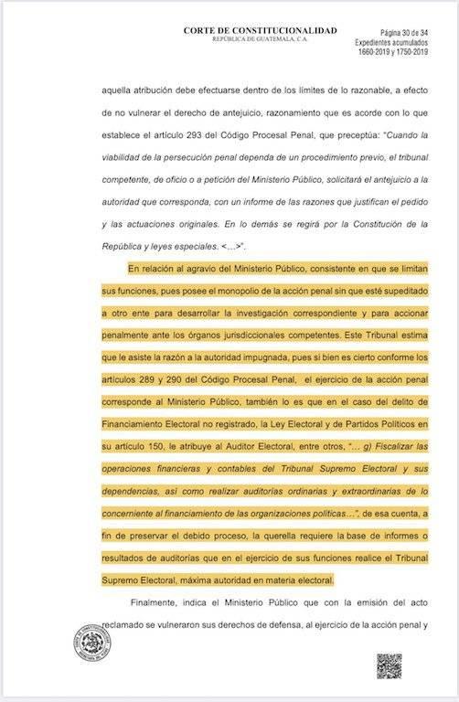 Resolución de la CC beneficia a Sandra Torres. Foto: Iván Velásquez