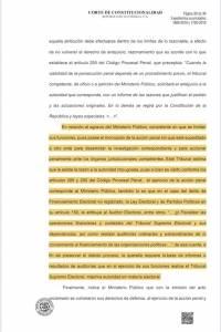 Resolución de la CC beneficia a Sandra Torres.