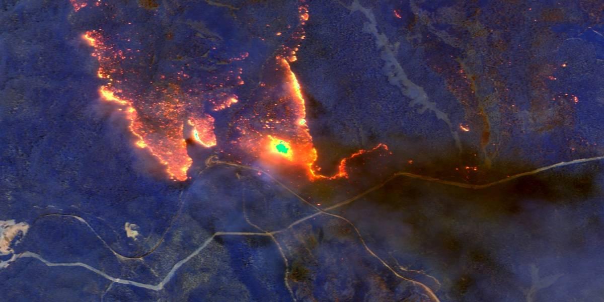 ¡Lamentable! Así se ve Australia desde el espacio por los incendios