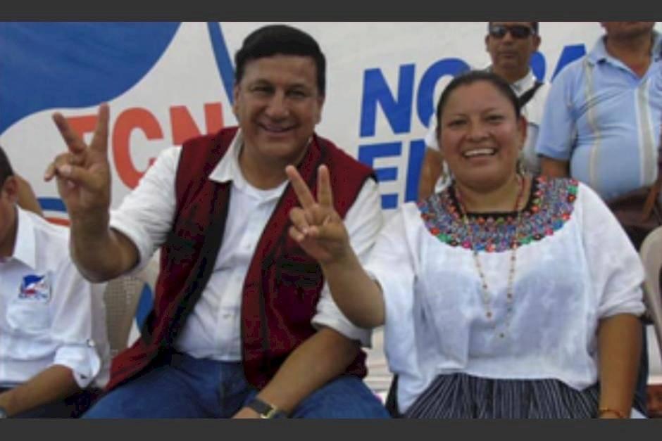 Alba López junto a Estuardo Galdámez, excandidato a la presidencia por FCN-Nación. Foto: Facebook