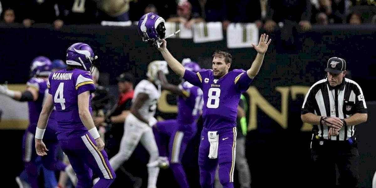 Vikings vencen a Saints por un comodín de la Nacional en la NFL