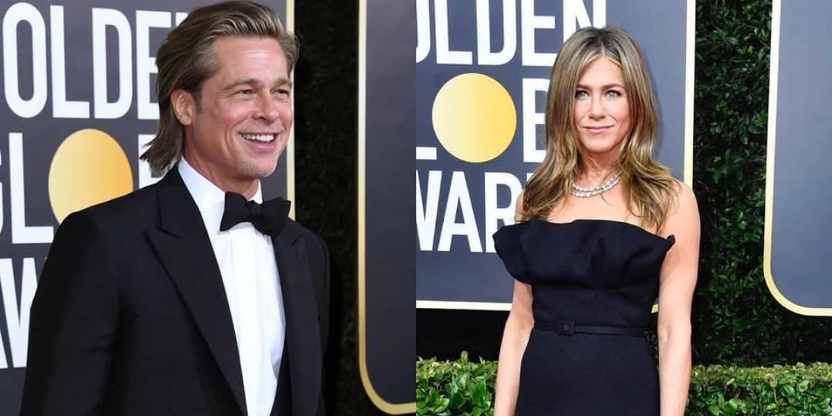 Jennifer Aniston y su mirada enamorada al escuchar a Brad Pitt en su discurso en los Golden Globes