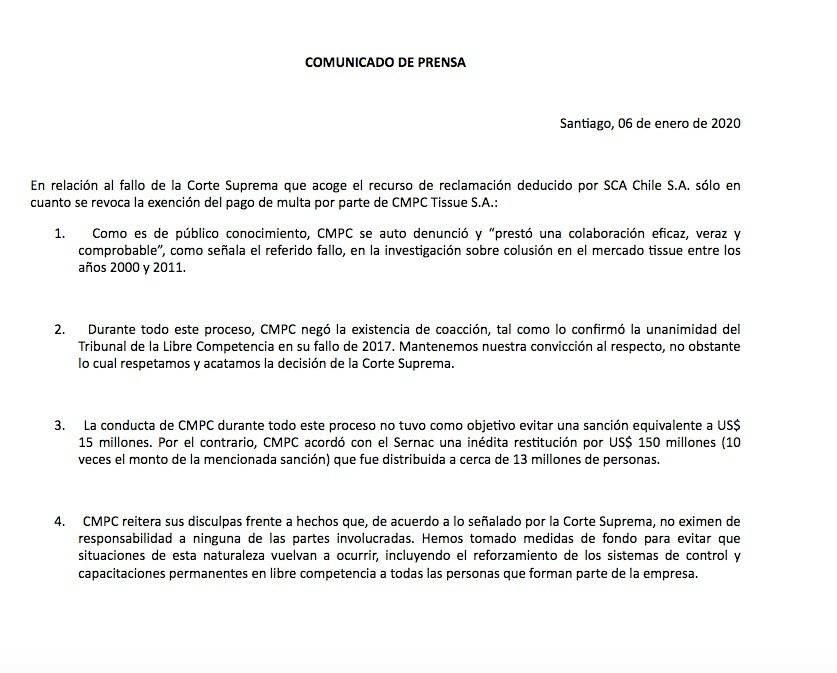 Declaración Cmpc