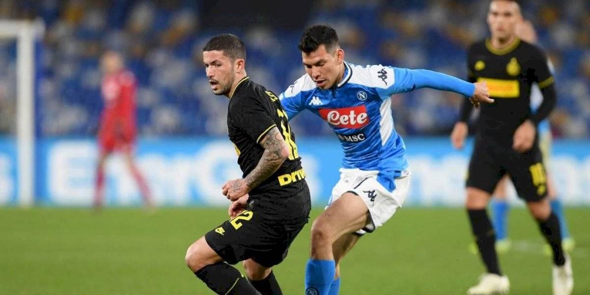 Napoli y Chucky Lozano caen ante el Inter de Milán