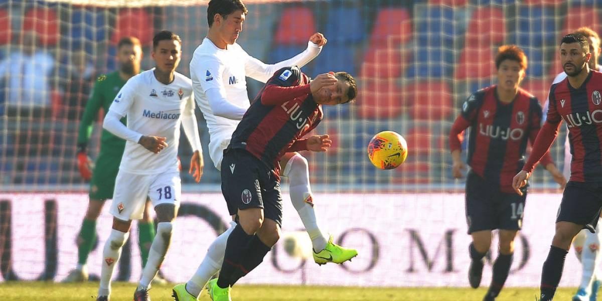 Medel y Pulgar repartieron puntos y patadas en empate entre Bologna y Fiorentina