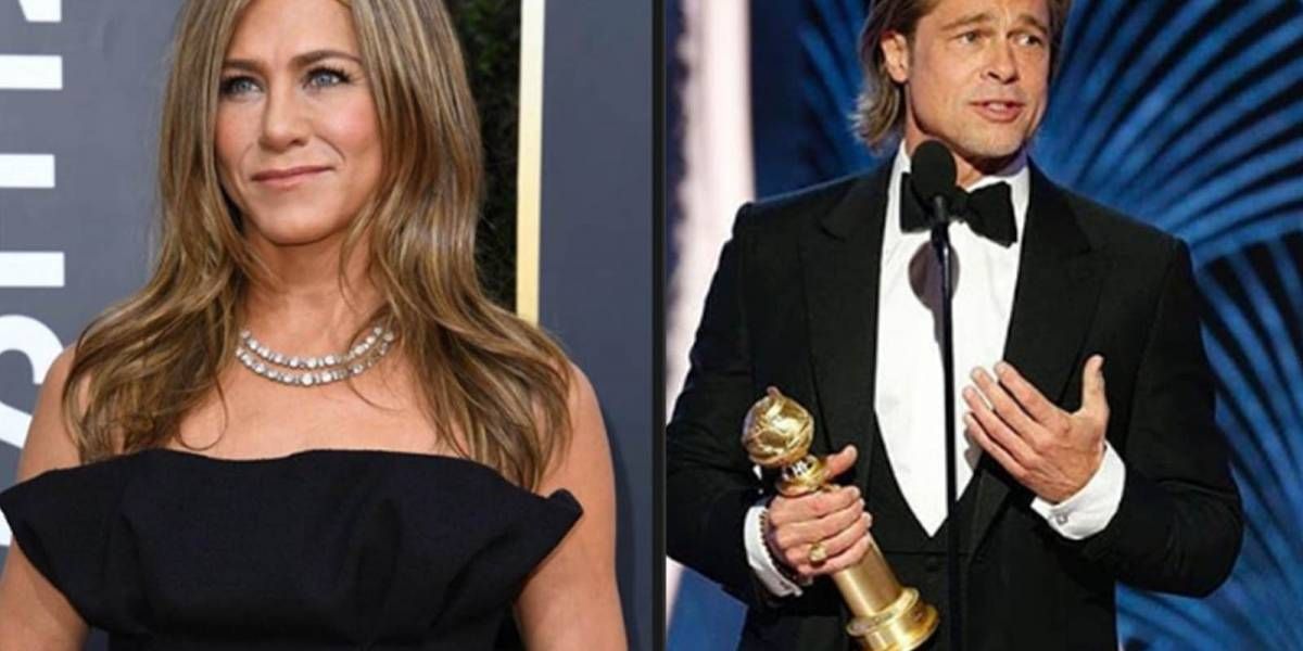 """Quédate con quien te mire como..."": así reaccionó Jennifer Aniston cuando Brad Pitt ganó un Globo de Oro"