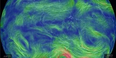 Visualizador de viento de Nullschool